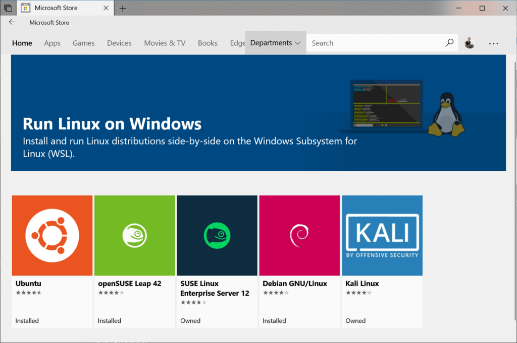 Como instalar WSL 1 y WSL 2 en Windows 10 store