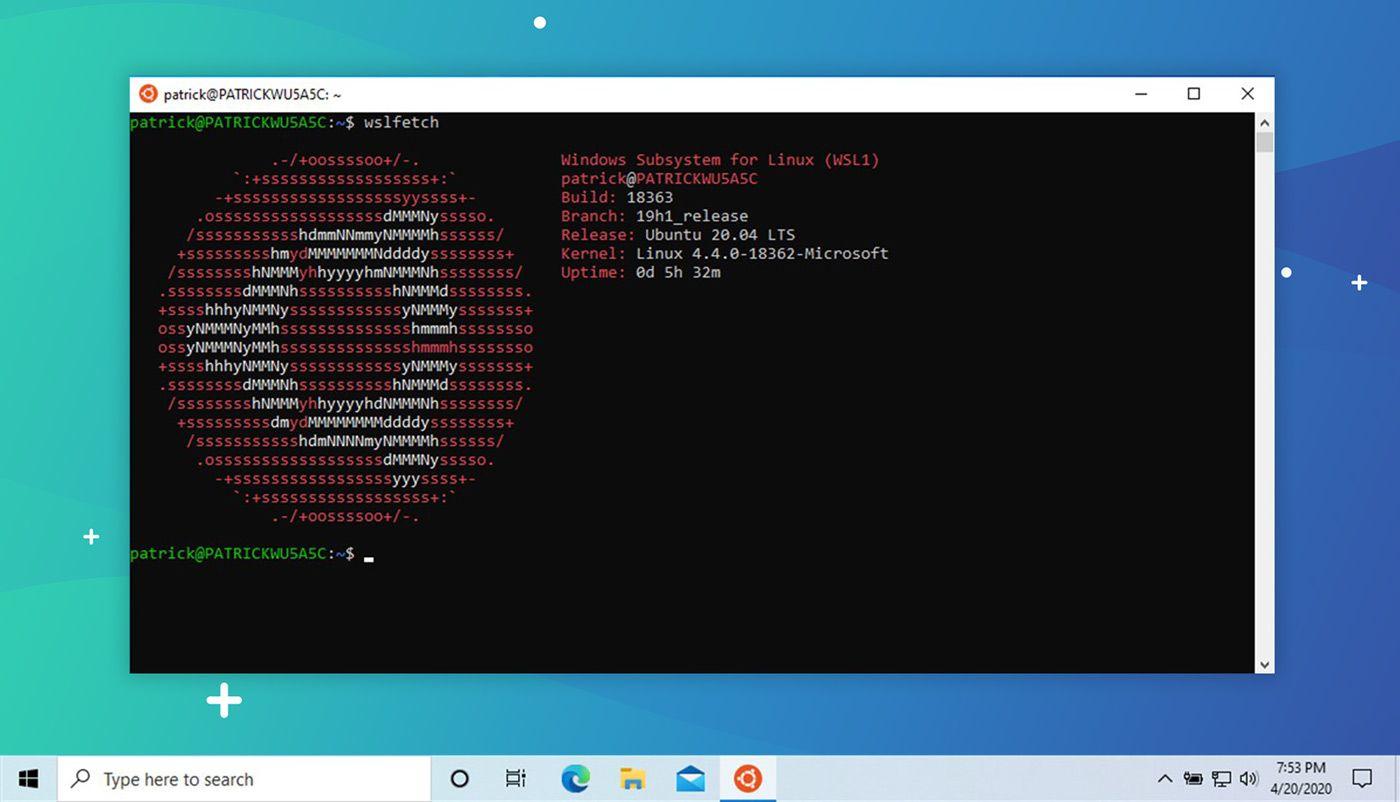 WSL Screenshot