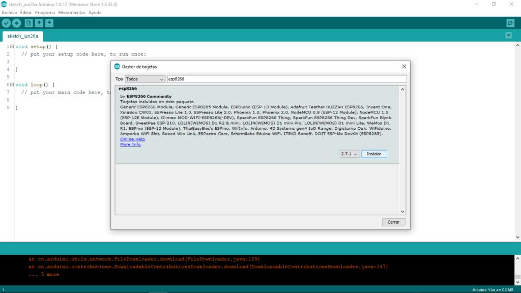 NodeMCU Esp8266, Instalacion del IDE Arduino 10