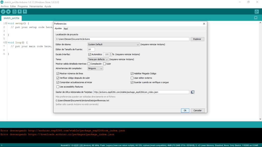 NodeMCU Esp8266, Instalacion del IDE Arduino 8