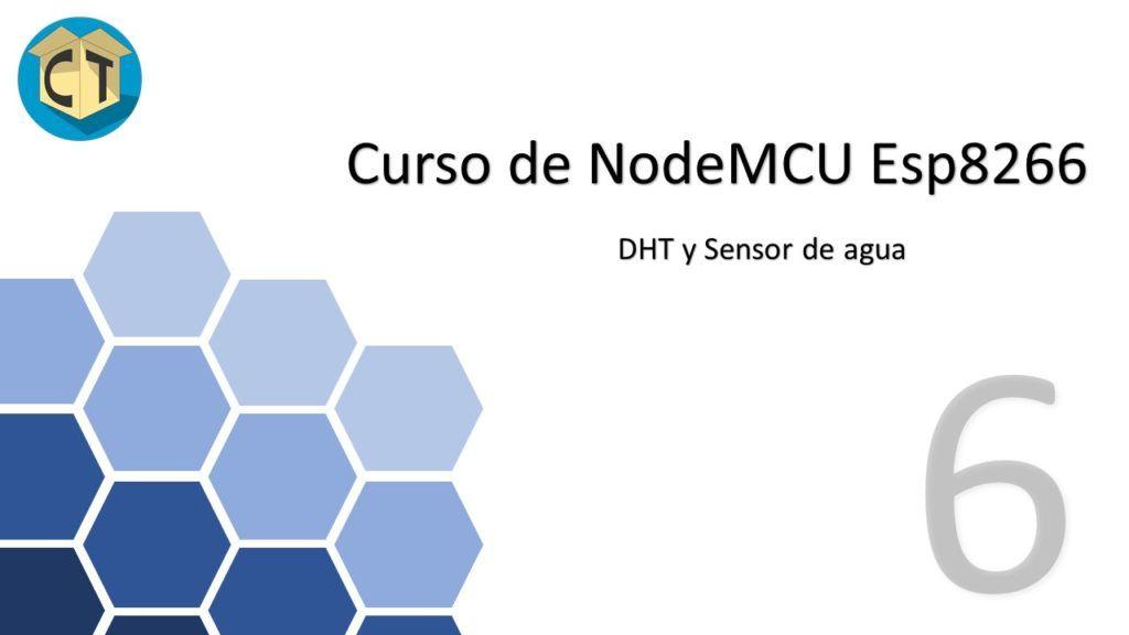 Sensor de agua + DHT con NodeMCU Esp8266 Diapositiva1 1